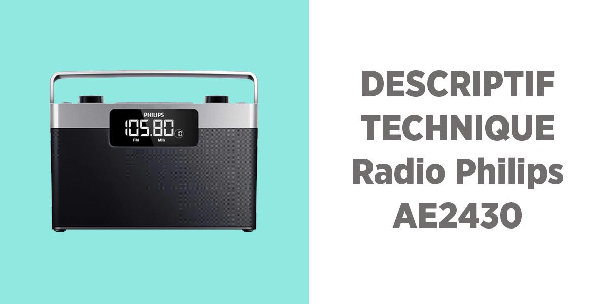 Que vaut la radio portable Philips AE2430 ?