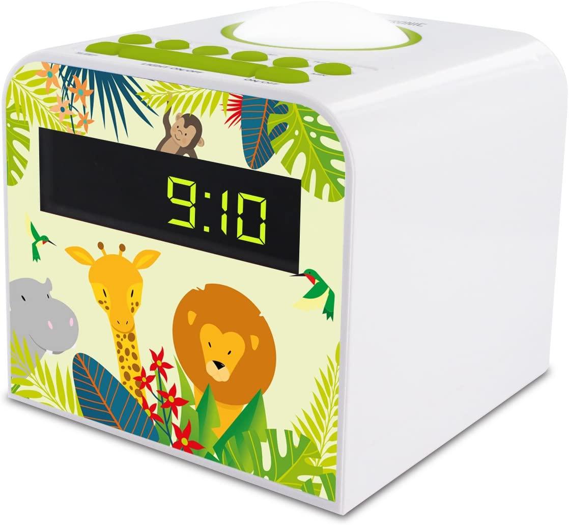 Le radio réveil enfant : Metronic 477044 radio jungle