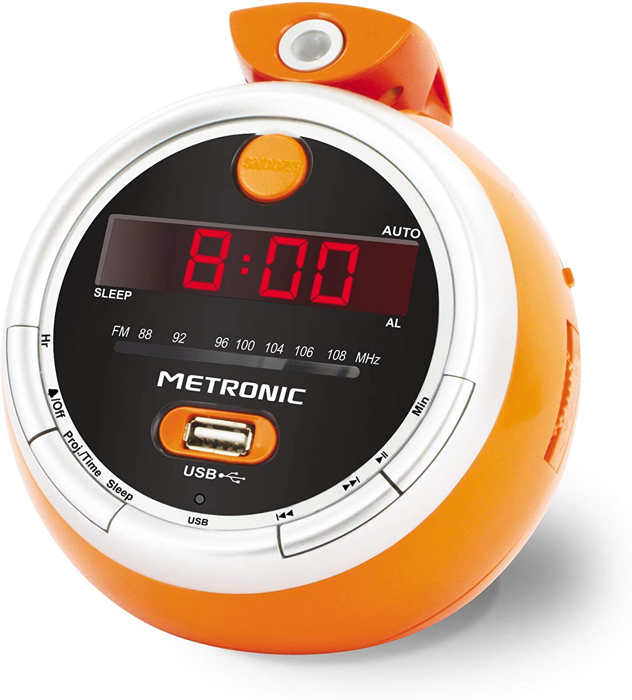 Le radio réveil enfant : Metronic 477023 juicy radio reveil