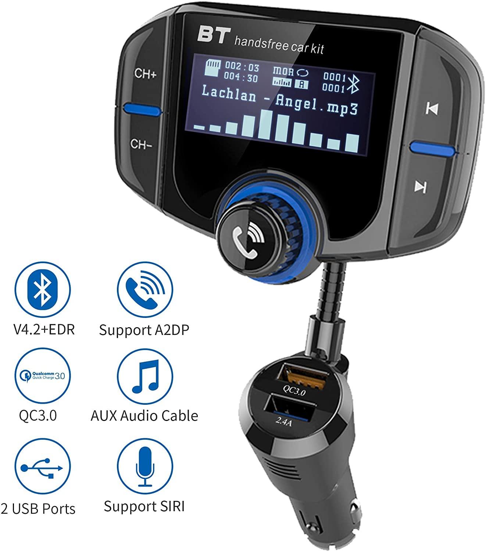 transmetteur fm bluetooth avec écran : gdre