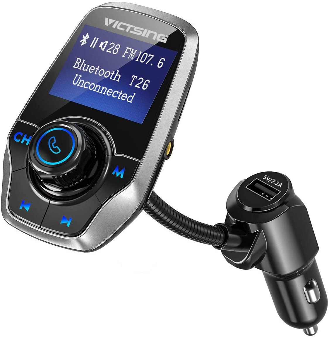 transmetteur fm bluetooth avec écran : victsing